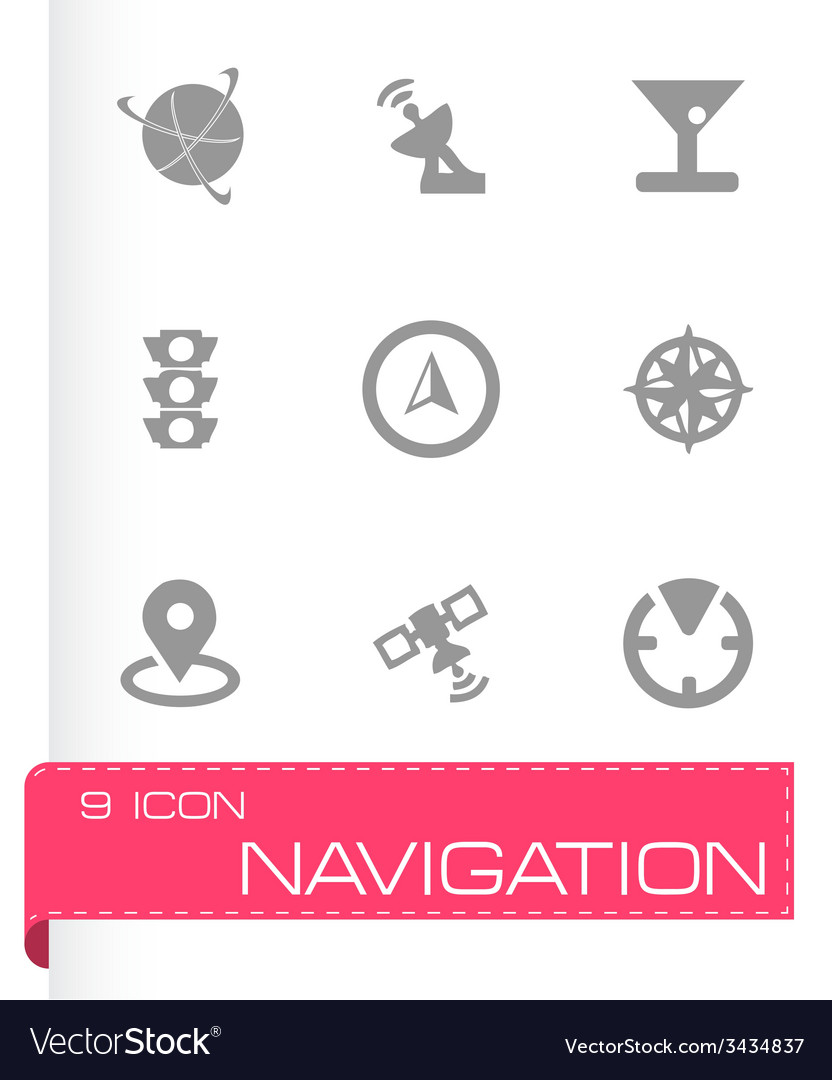 Navigation icons set vector   Price: 1 Credit (USD $1)