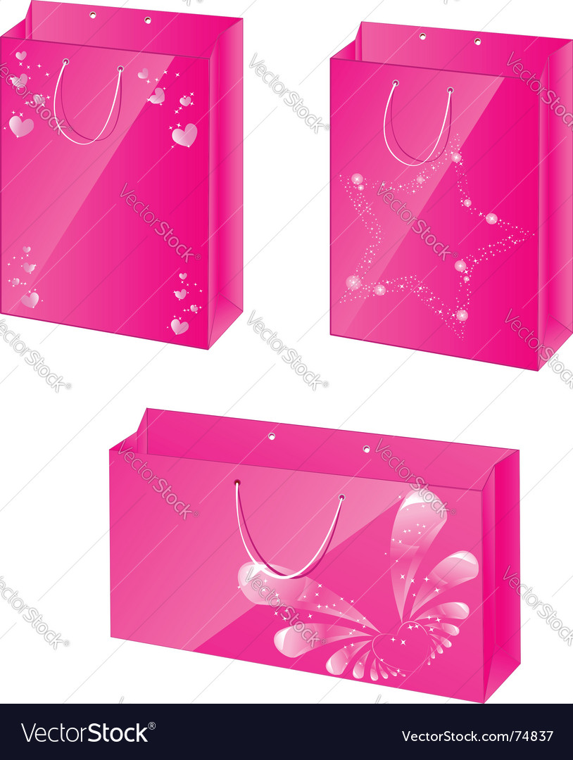 Pink paper packets vector | Price: 1 Credit (USD $1)
