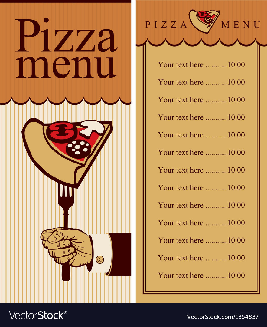 Pizza menu vector | Price: 1 Credit (USD $1)