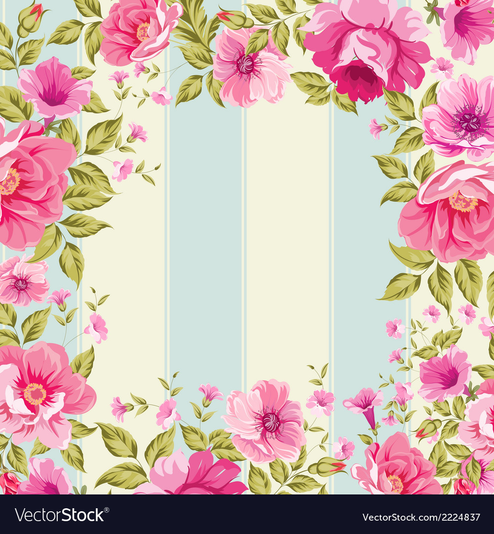 Roses floral wallpaper vector | Price: 1 Credit (USD $1)
