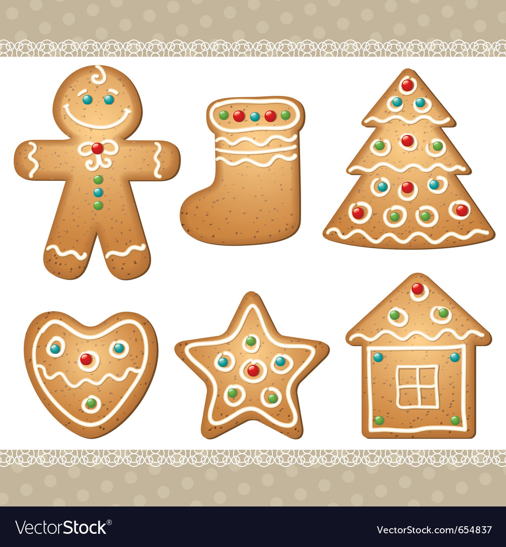 Set of gingerbread vector | Price: 1 Credit (USD $1)