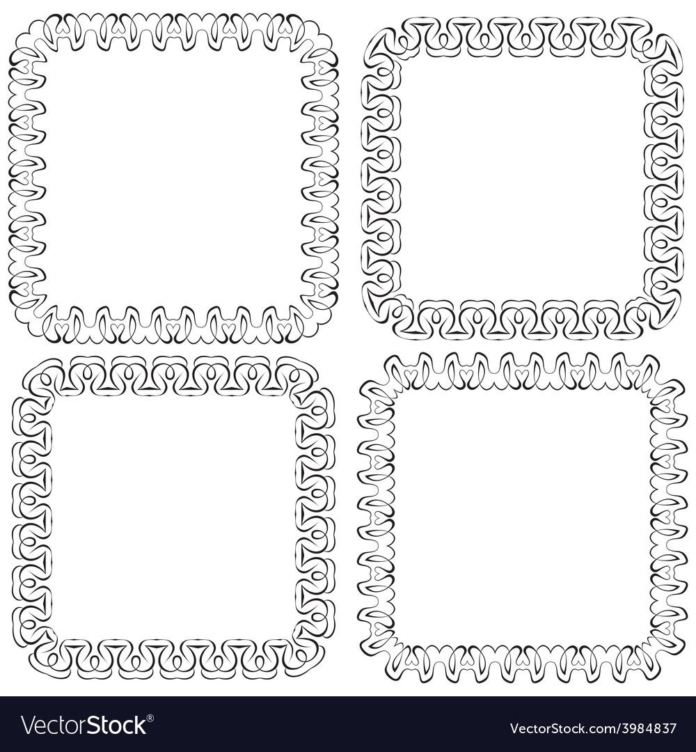 Set openwork frame for design vector | Price: 1 Credit (USD $1)