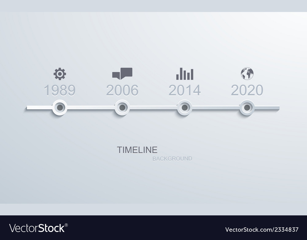 Timeline infographic element design vector | Price: 1 Credit (USD $1)