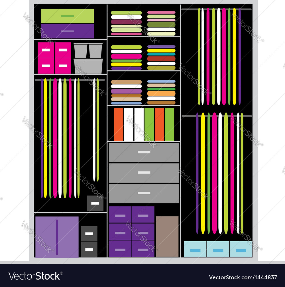 Wardrobe inside for your design vector | Price: 1 Credit (USD $1)