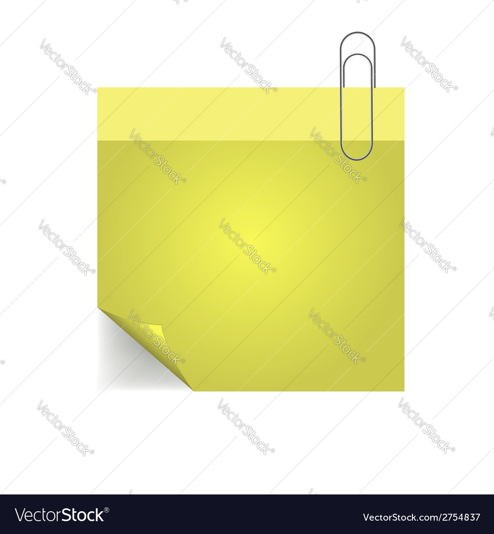 Yellow note with pin vector | Price: 1 Credit (USD $1)