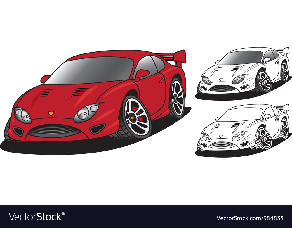 Angry sports car vector | Price: 3 Credit (USD $3)