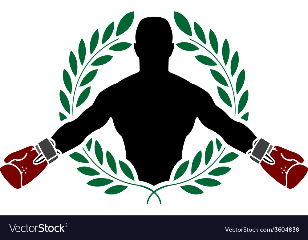 Boxer and laurel wreath vector | Price: 1 Credit (USD $1)
