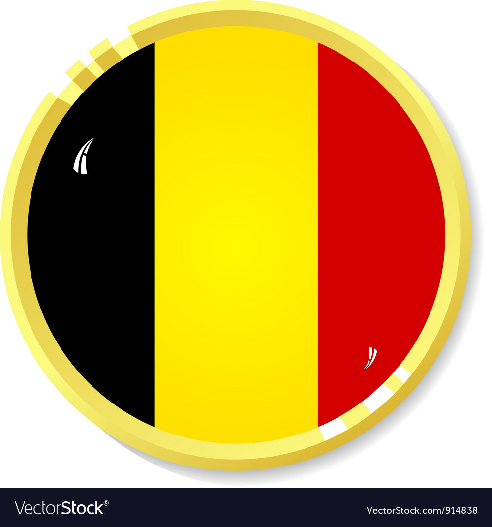 Button with flag belgium vector | Price: 1 Credit (USD $1)
