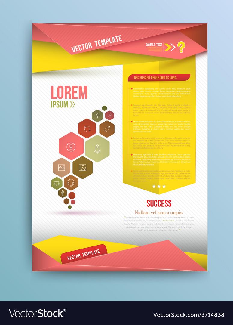 Cover annual report colorful bird origami paper de vector | Price: 1 Credit (USD $1)