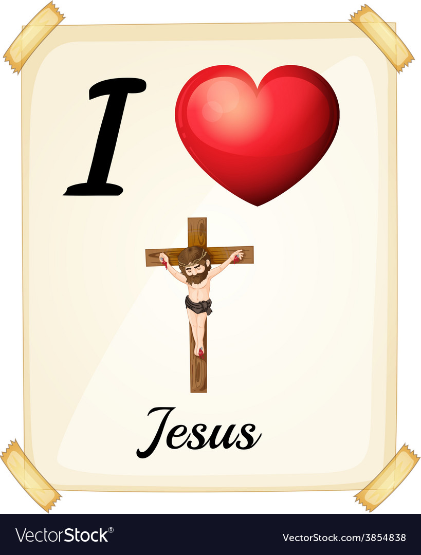 I love jesus vector | Price: 1 Credit (USD $1)