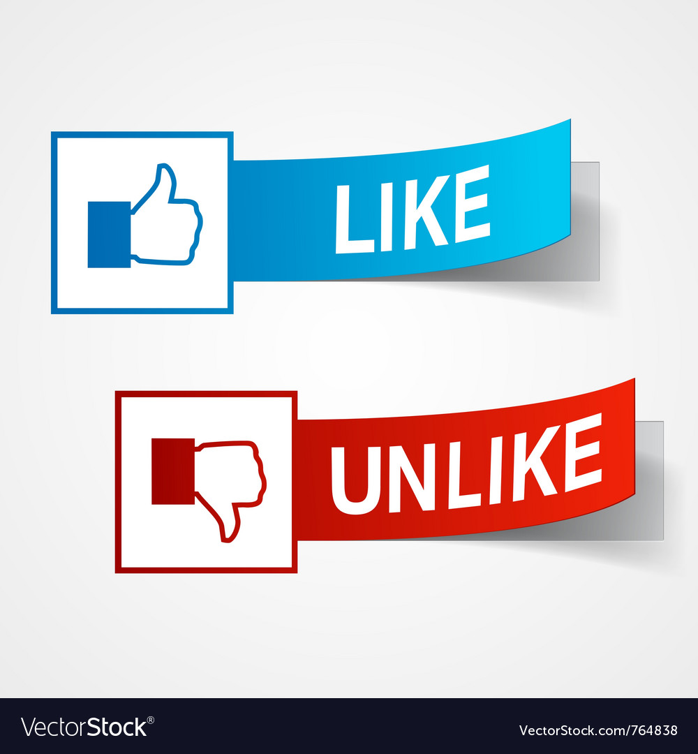 Like and unlike symbols vector | Price: 1 Credit (USD $1)