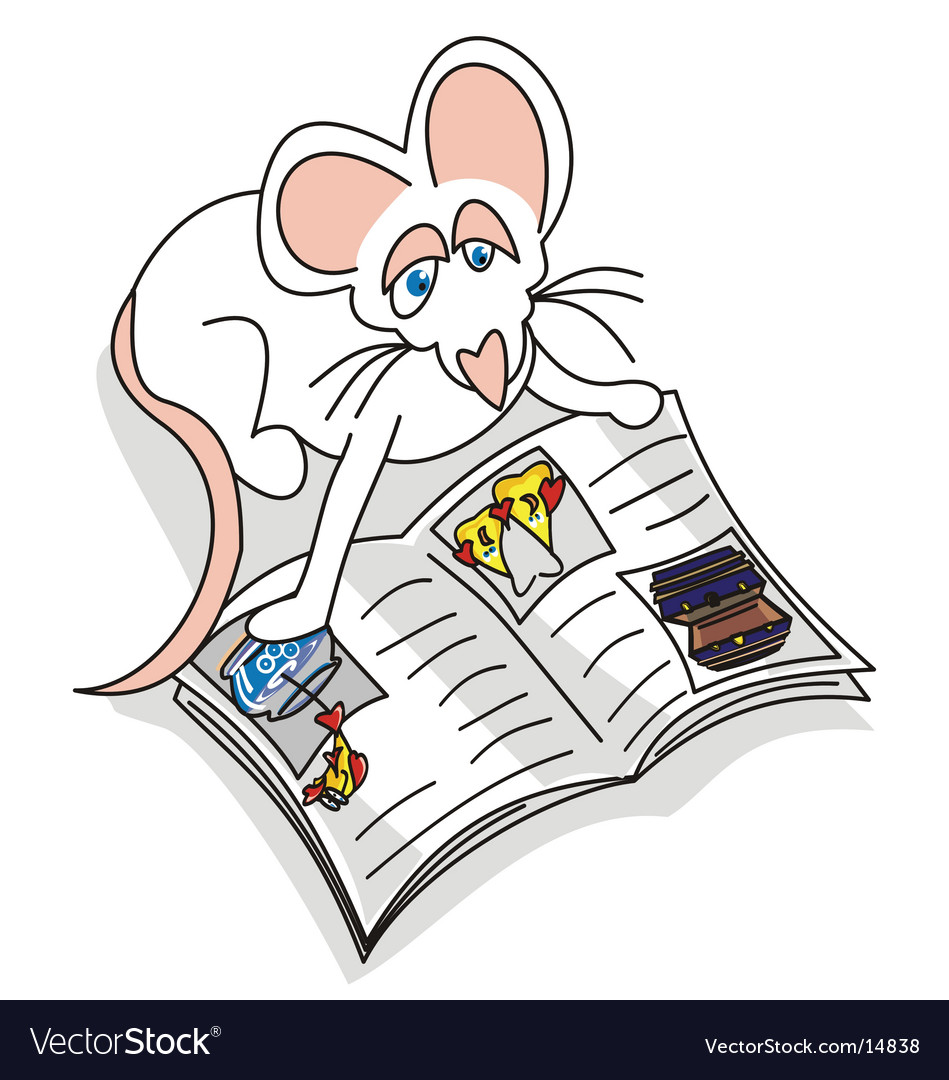 Mouse reading vector   Price: 1 Credit (USD $1)