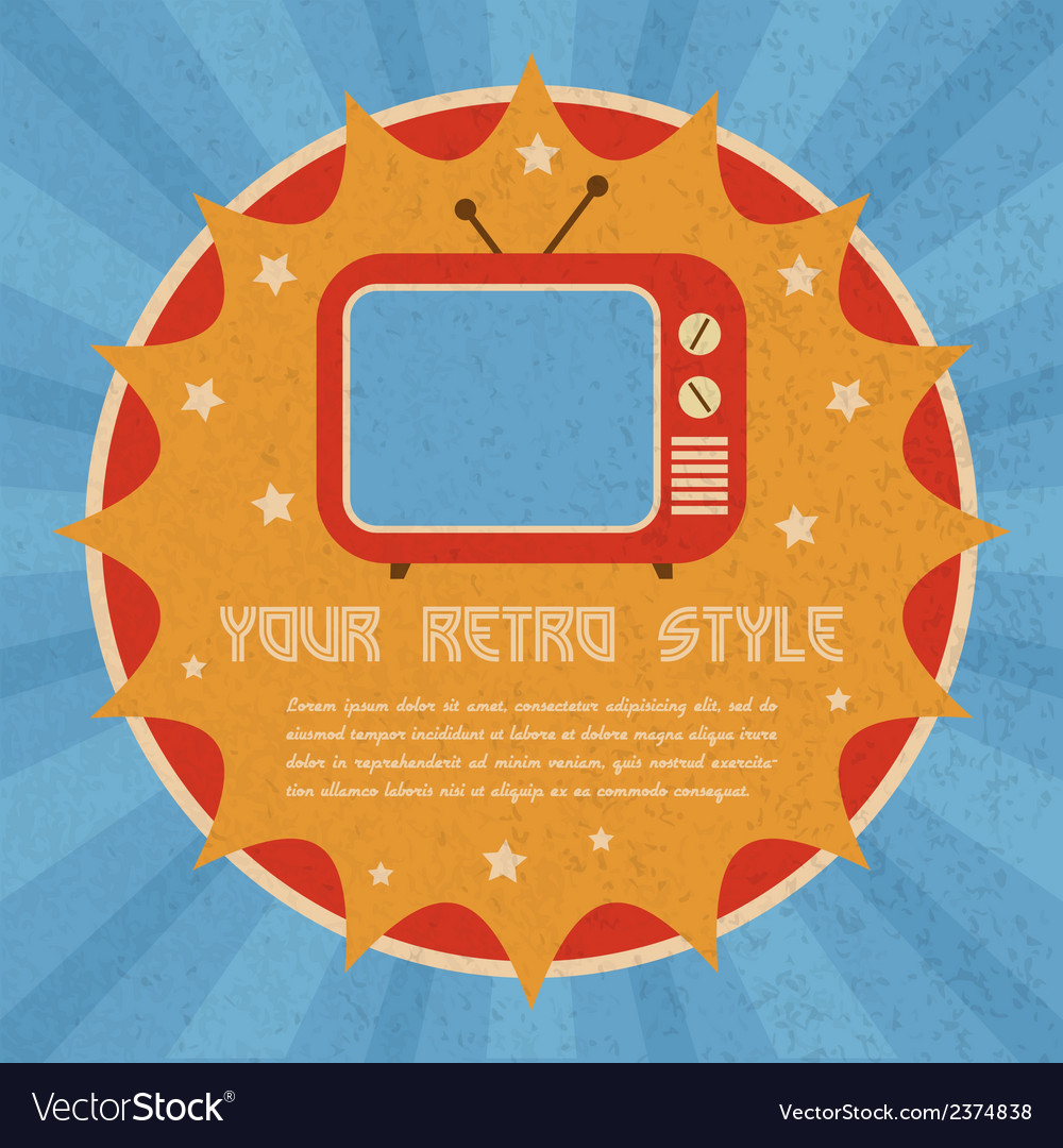 Retro style poster vector | Price: 1 Credit (USD $1)