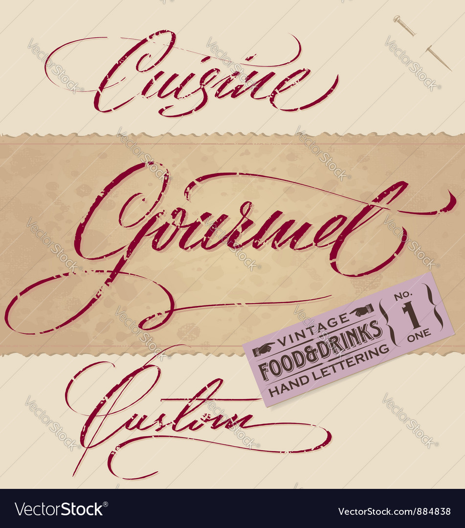 Vintage menu headlines set vector | Price: 1 Credit (USD $1)