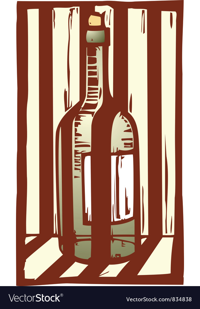 Wine bottle 1 vector | Price: 1 Credit (USD $1)