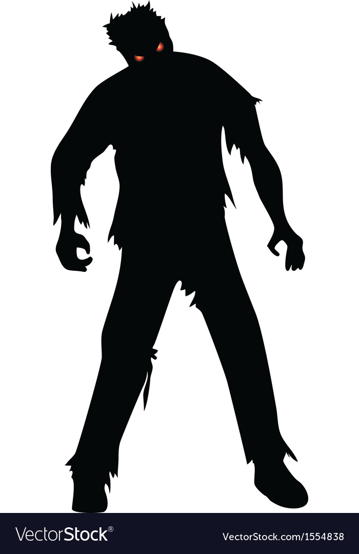Zombie isolated on white vector | Price: 1 Credit (USD $1)
