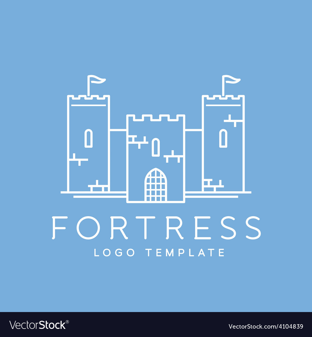 Abstract fortress line style logo template vector | Price: 1 Credit (USD $1)