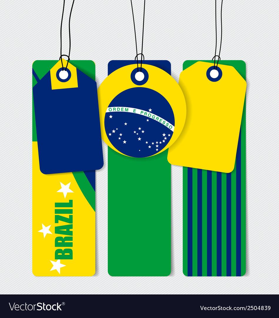 Brazil flags concept design vector | Price: 1 Credit (USD $1)
