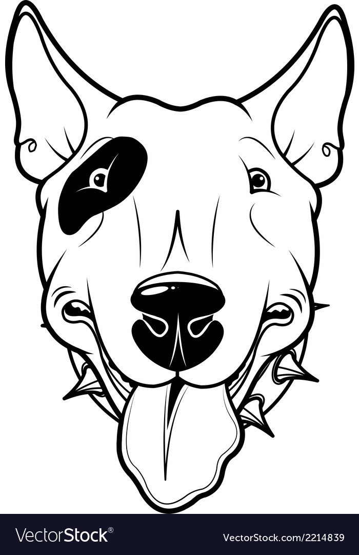 Bull terrier vector | Price: 1 Credit (USD $1)