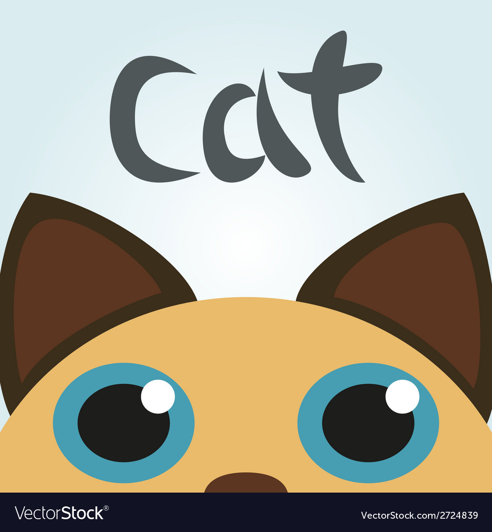 Cat looking up vector | Price: 1 Credit (USD $1)