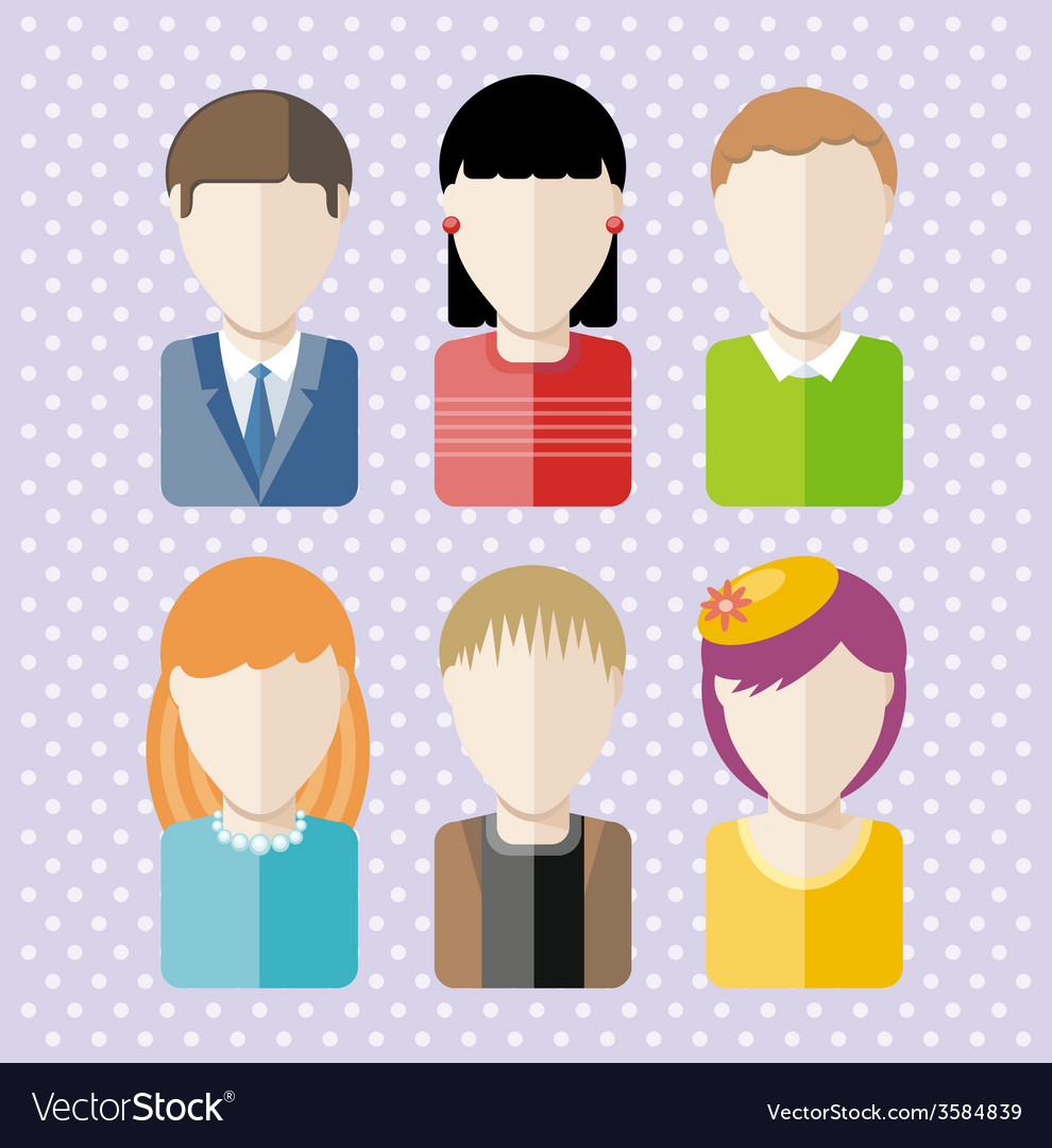 Characters silhouettes people professions vector | Price: 1 Credit (USD $1)