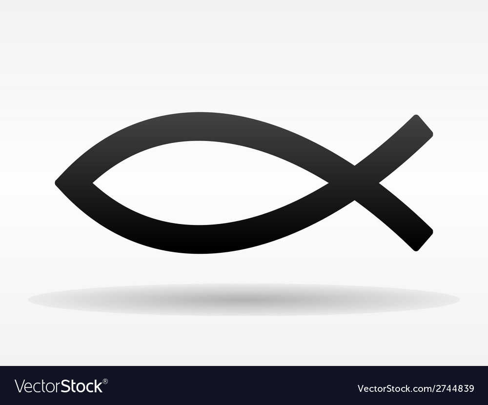 Christian fish symbol vector | Price: 1 Credit (USD $1)