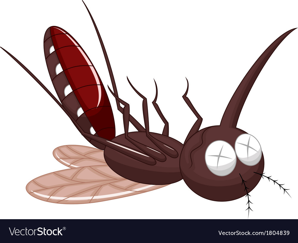 Death mosquito cartoon vector | Price: 1 Credit (USD $1)