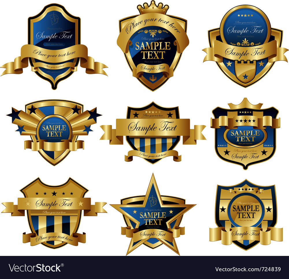 Decorative ornate gold frame label vector | Price: 3 Credit (USD $3)