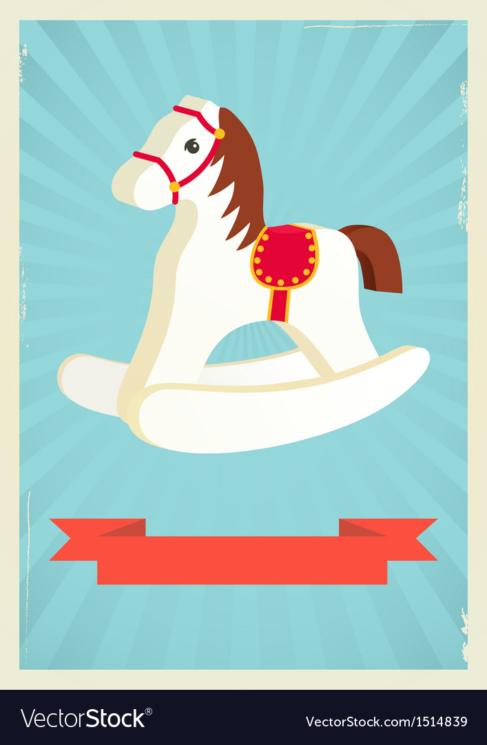 Hobby horse background vector | Price: 1 Credit (USD $1)
