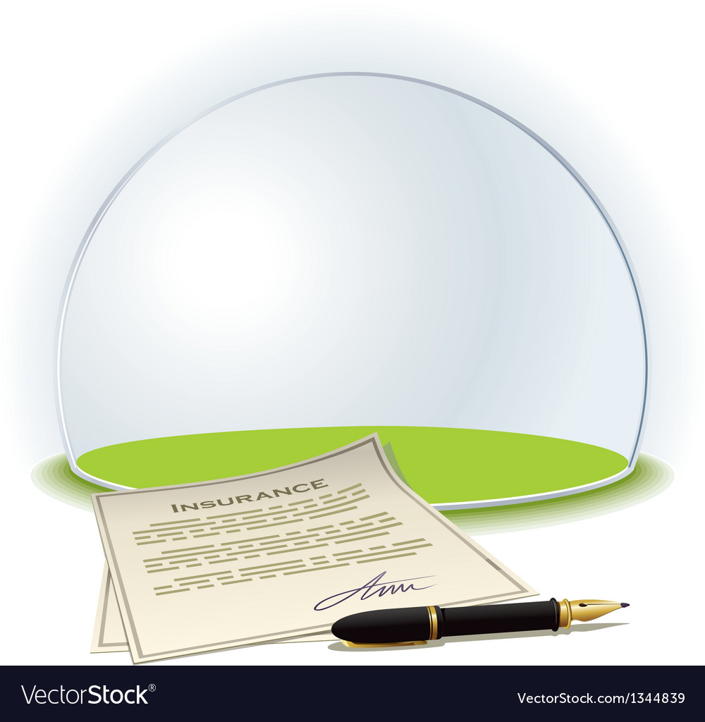 Insurance globe vector | Price: 3 Credit (USD $3)