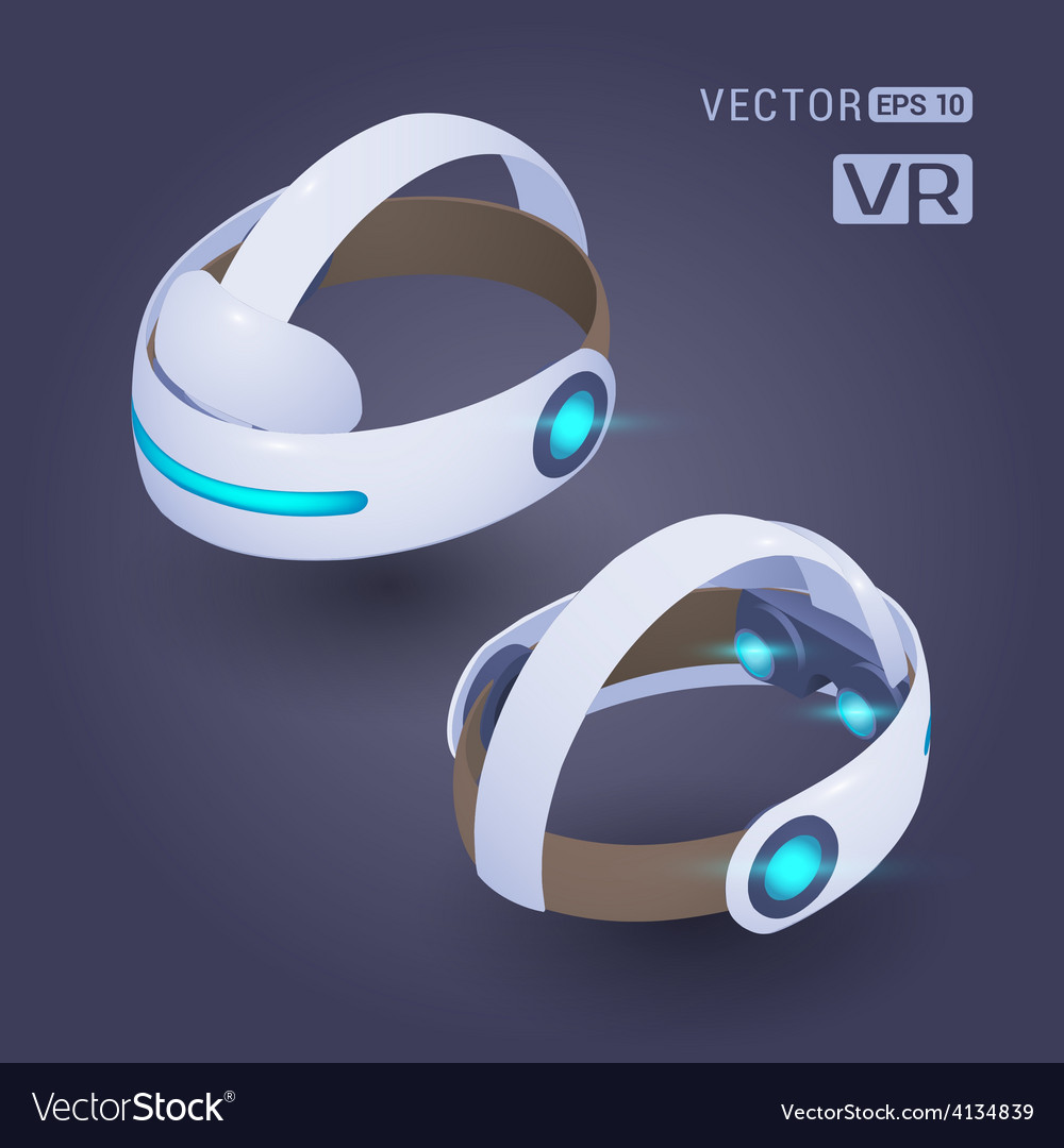 Isometric virtual reality headset vector | Price: 1 Credit (USD $1)