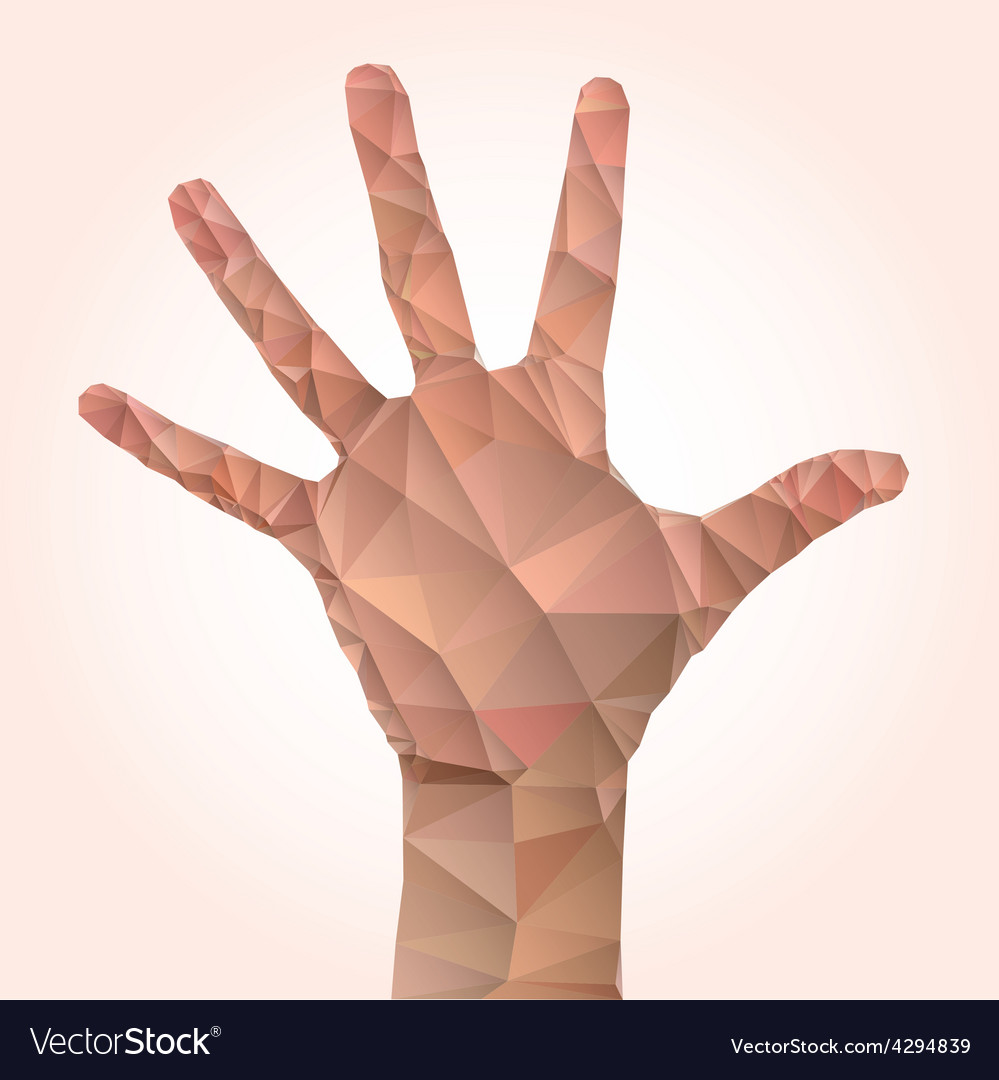 Low poly hand vector | Price: 1 Credit (USD $1)
