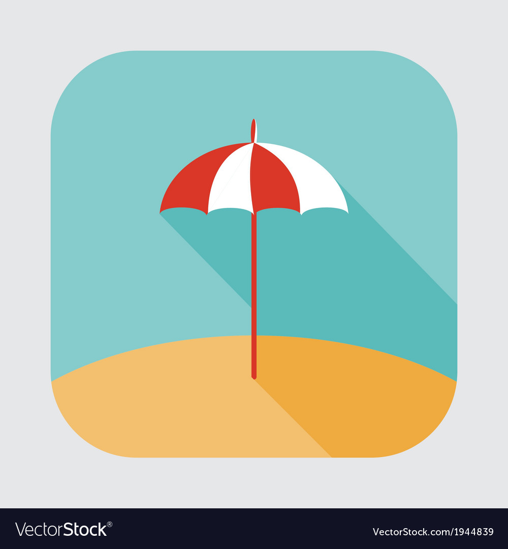 Parasol icon vector | Price: 1 Credit (USD $1)