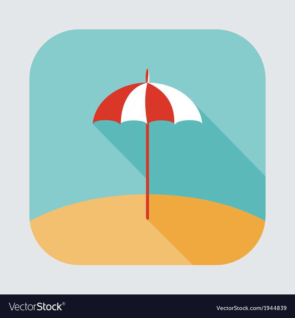 Parasol icon vector | Price: 1 Credit (USD $1)