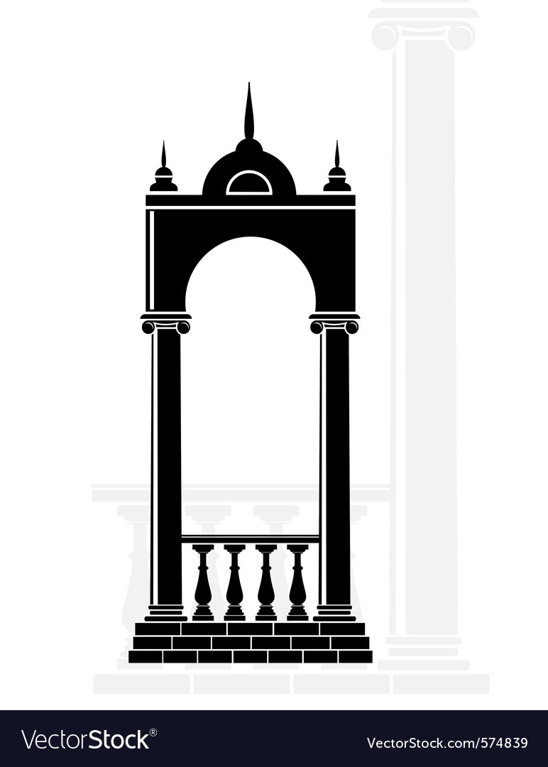 Silhouette arch vector | Price: 1 Credit (USD $1)