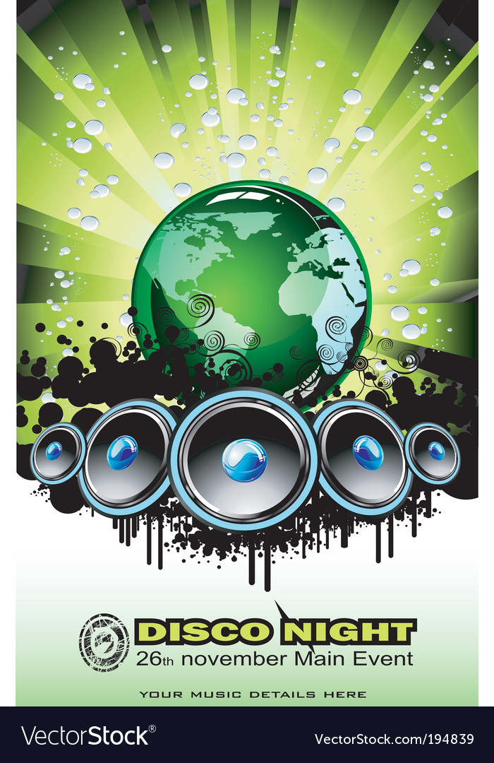 World sound disco vector | Price: 3 Credit (USD $3)