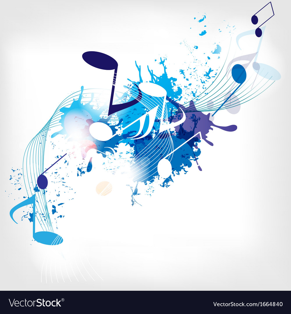 Abstract musical background with notes vector | Price: 1 Credit (USD $1)