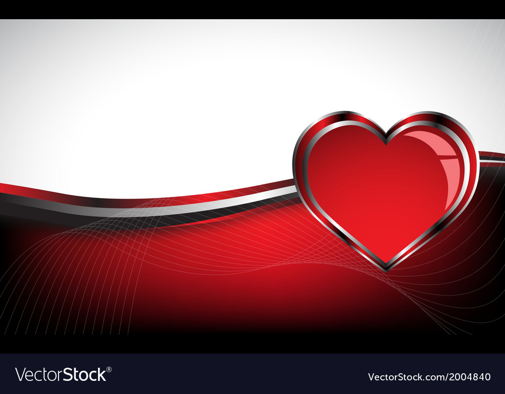 Beautiful red heart background vector | Price: 1 Credit (USD $1)