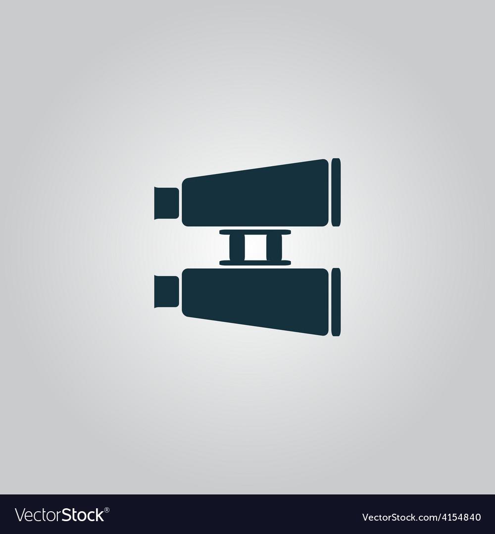 Binocular icon vector | Price: 1 Credit (USD $1)