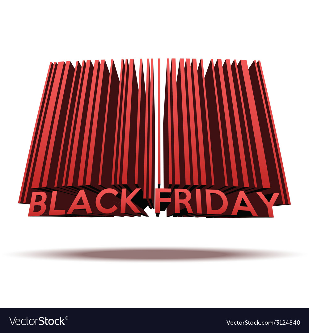 Black friday sales tag in barcode style vector | Price: 1 Credit (USD $1)