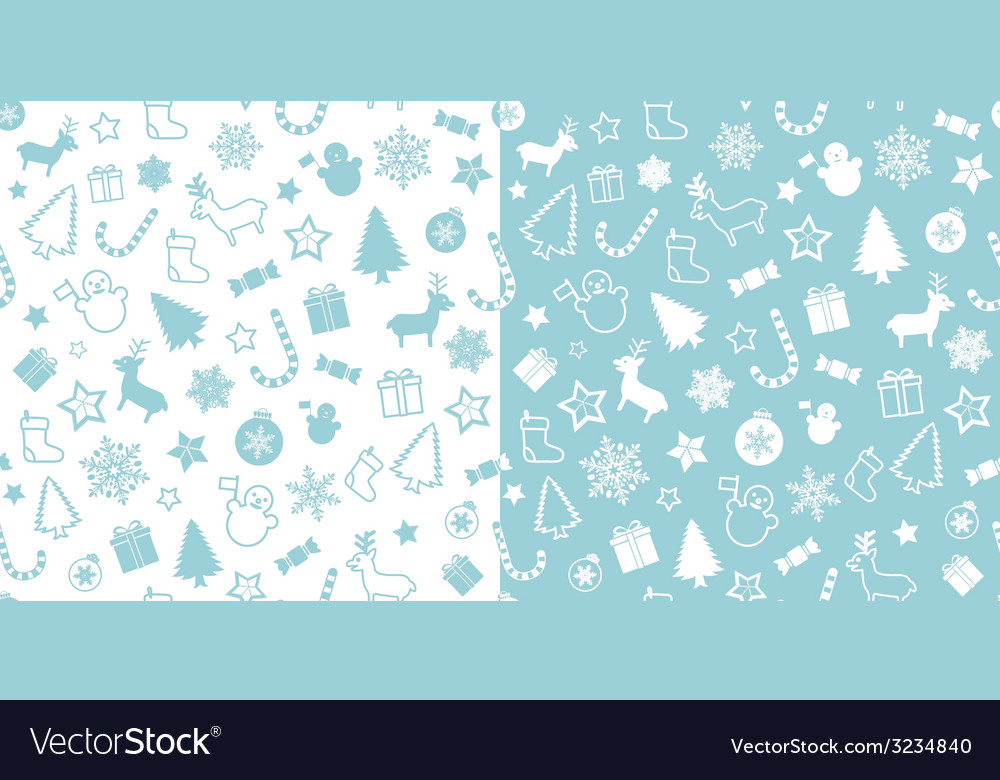 Christmass seamless pattern vector | Price: 1 Credit (USD $1)