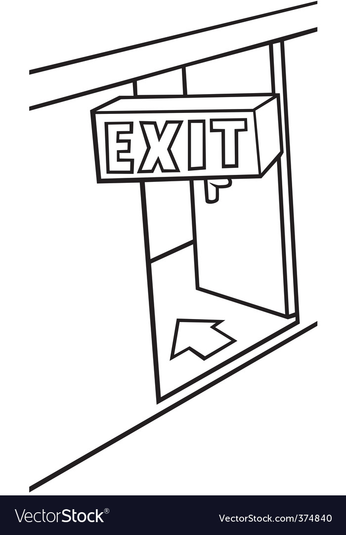 Exit door vector | Price: 1 Credit (USD $1)