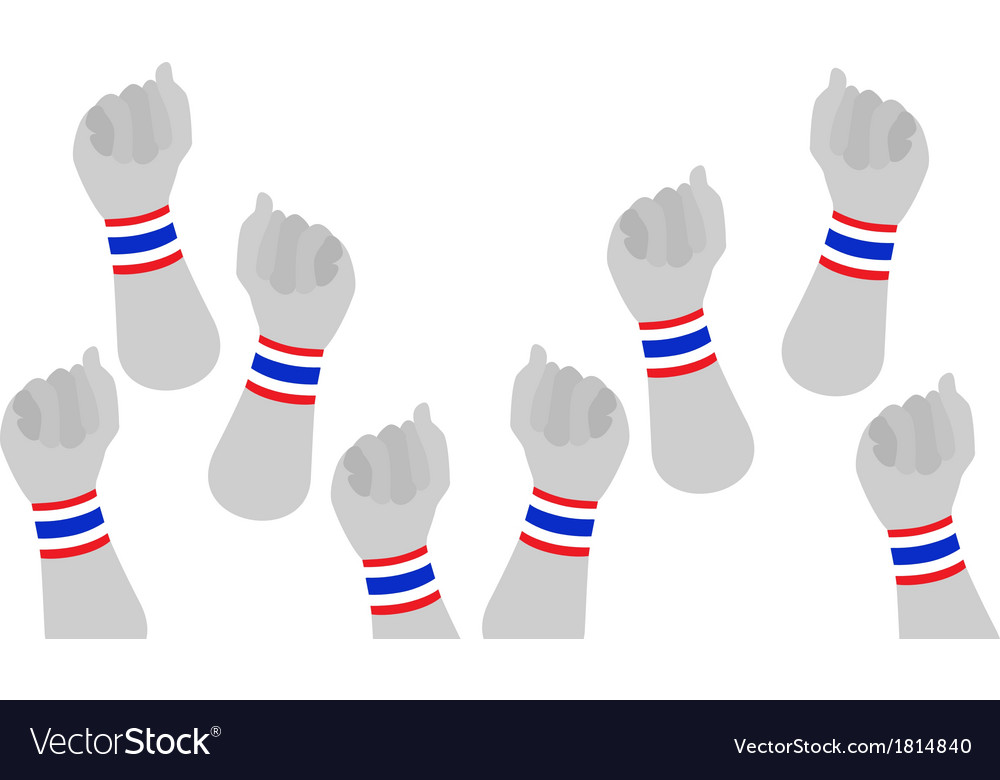 Human hands clenched fist with thai wristband vector | Price: 1 Credit (USD $1)