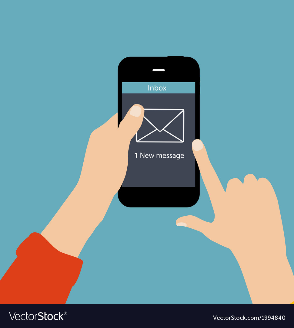 Inbox mail flat concept vector | Price: 1 Credit (USD $1)