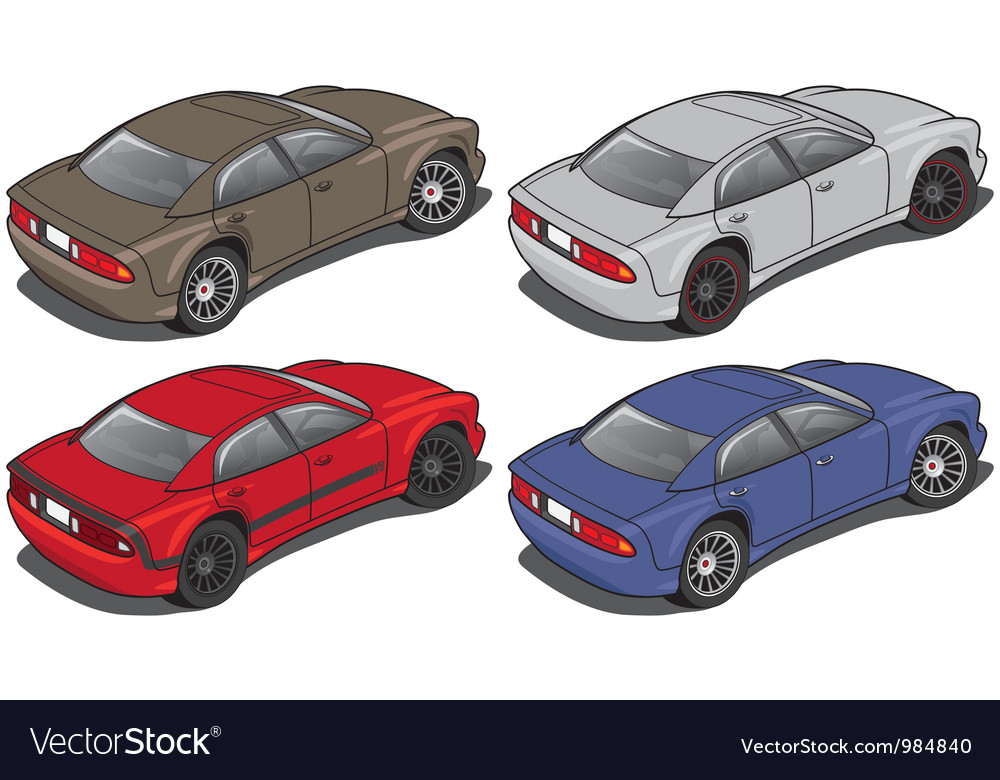 Modern sedan from rear vector | Price: 3 Credit (USD $3)