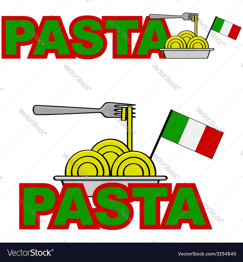 Pasta icon vector | Price: 1 Credit (USD $1)