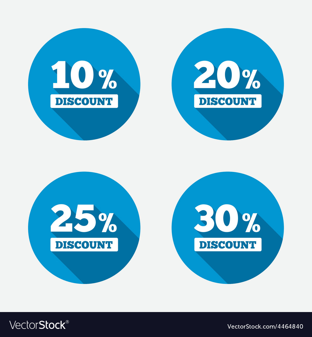 Sale discount icons special offer price signs vector | Price: 1 Credit (USD $1)