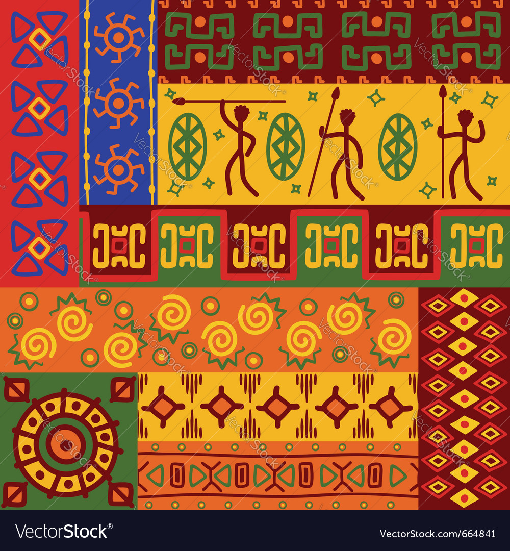Abstract african ethnic patterns vector | Price: 1 Credit (USD $1)
