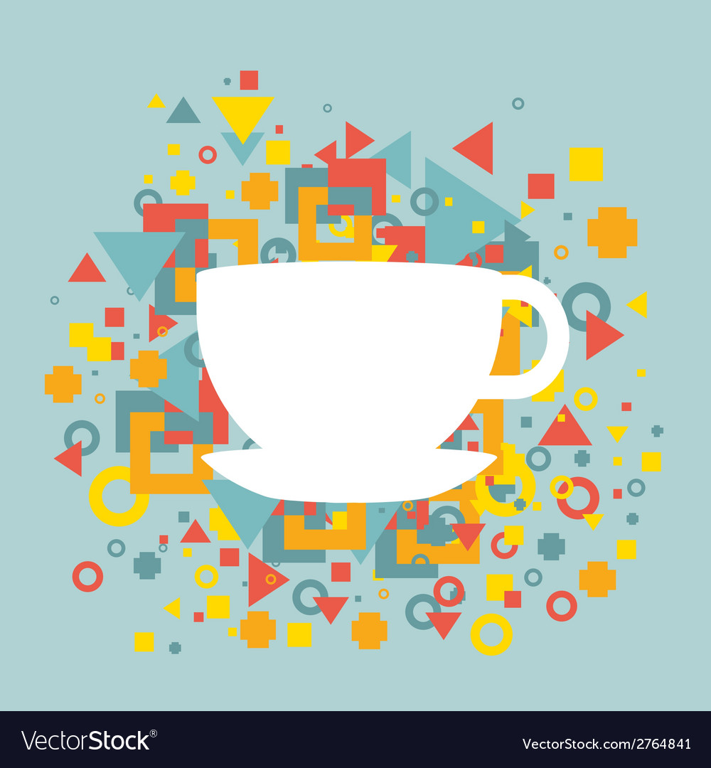 Abstract background with a cup of coffee vector