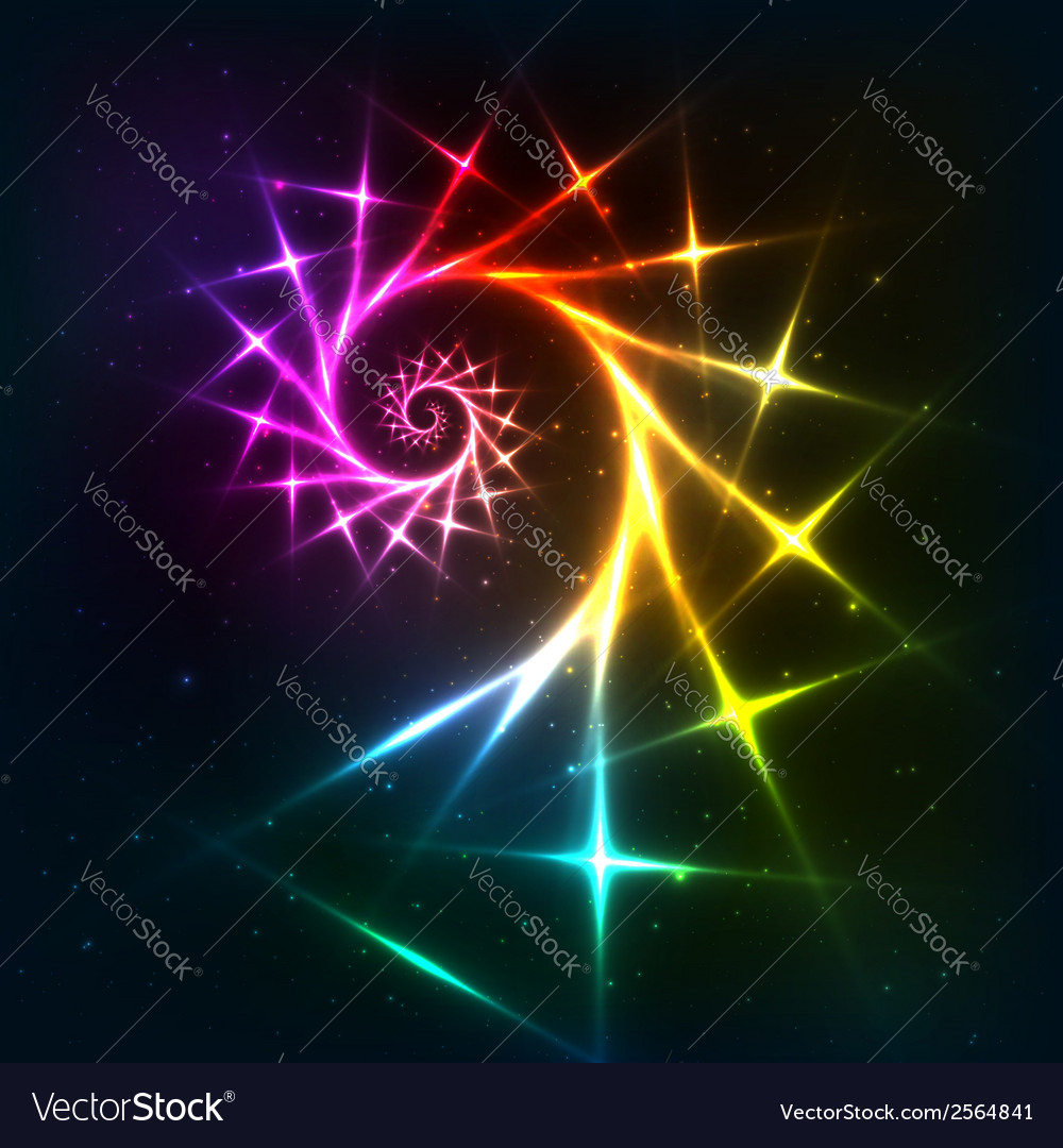 Abstract rainbow fractal spiral background vector | Price: 1 Credit (USD $1)